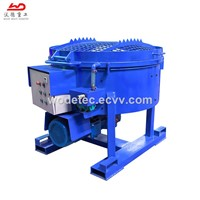 500kg Fast Mixing Speed Refractory Pan Mixer with Walking Wheel
