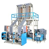 High Output BiodegradableABA 2 Layer Co-Extrusion Film Blowing Machine