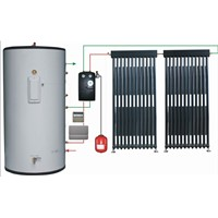 Split Pressurized Solar Water Heating System with Heat Pipe Solar Collectors