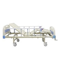Hot Sell Two Manual Crank Hospital Adjustable Care Bed