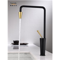 Black Kitchen One Handle High Arc Water Faucet