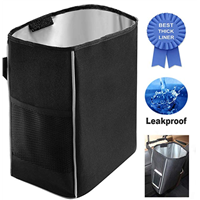 Car Trash Can, 2.2 Gallons Black Hanging Waterproof Leakproof Thicken, Collecting Car Tr