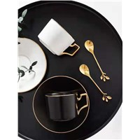 European-Style Small Luxury Trace Gold Coffee Cup Set Household Cups & Dishes Ins Wind