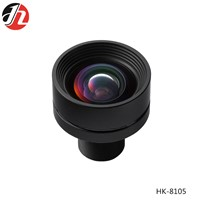 HK- 8105 f 8mm F 1.8 Low Distortion 8 Glasses Made up 1/5 Inch Intelligent Security Lens for Drone