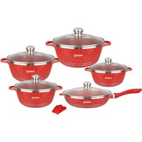 Dessini Brand 12pcs Cookware Set Granite Coatin Pan Set Nonstick Pots Sets