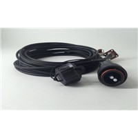 10 Meters Length LC SM Optical Cable Cord LSZH Material Black Color for Cabling System