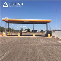 Prefabricated Steel Space Frame Petrol Filling Station Cost of Gas Station Canopy Roofing Cover