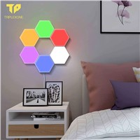 Hexagonal Wall Lamp Creative Geometry Assembly LED Night Light Smart Dimmable Touch Sensitive Modular Light