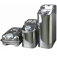 Stainless Steel Jerry Can / Stainless Steel Fuel Can Diesel Fuel Petrol Water Carrier Oil Storage Drum