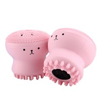 Little Octopus Cartoon Cute Promotional Giveaway Gift Silicone Facial Cleansing Brush