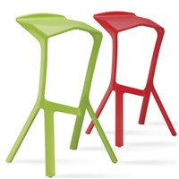 Polypropylene Wood Legs Simple & Comfortable Bar Or Counter Stool