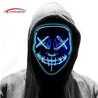 Free Sample Masquerade Carnival DJ Cosplay Scary Rave Horror Glow Neon Light up Flashing LED EL Wire Halloween Party Mas