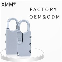 XMM Mini Padlock Zinc Alloy Travel Suitcase Combination Locks XMM-8001