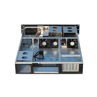 2U Server Case both the Rwo Sided of Chassis & Front Panel Are Designed with Radiating, 4x Standard Matching 8025 Fans