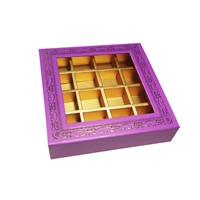 Customized Paper Gift Box for Chocolates Rigid Box with Clear Window for Display