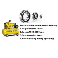 Reciprocating Compressors Bearing 6201 2RS C3 P5 HG101 Deep Groove Ball Bearing