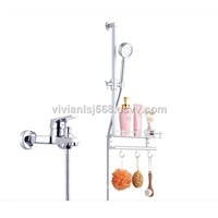 Bathroom Simple Shower Set Sprayer Head Wall Mounted Mixer Shower Tap China Factory