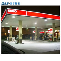 Prefab Light Steel Structure Design Filling Toll Gas Petrol Station Roof Canopy