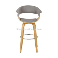 Nature Leisure Plywood Bentwood Chair Bar Chairs /Stools Can Swive, Wood Leg