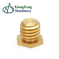 High Tensile Bolts Fittings Brass Plug Screw Nut with External Thread Zinc Yellow-Chromate Plated Galvanized