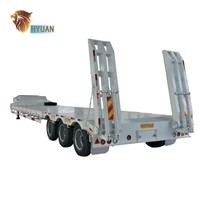 HYUAN 3 Axles Lowbed Semi Trailer for Sale