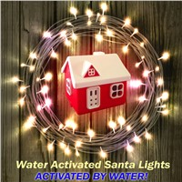 Water Activated Santa Lights Christmas Decorative Lights