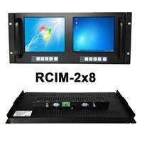 8 Inch Rackmount Monitor Dual LCD Display