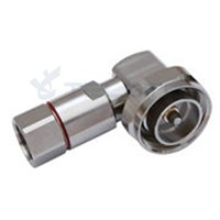 DIN Male Right Angle Connector for 1/2'' Flexible RF Cable RF Coaxial Connector