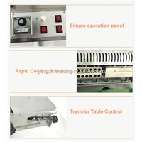 FR-900k Continuous Portable Plastic Heat Food Band Sealer Seal Packing Bag Sealing Machine