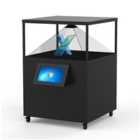 120x120CM 360 Degree Hologram 3D Display Box Hologram Showcase Holographic Advertisin