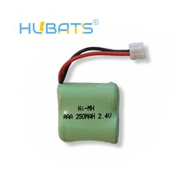 Hubats 1/2AAA*2 NiMH 2.4V 250mAh AAA Ni-MH Batteries for Wireless Paging Systems Cordless Phone