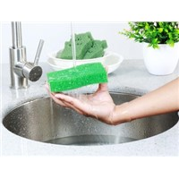 Zoom Brand Antibacterial Silicone Dish Sponge Washing Brush Scrubber Household Cleansing Heating Pad Spon