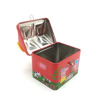 House Roof Piggy Bank Cheap Factory Tin Box Saving Coin Bank with Lock