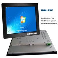15 Inch Industrial LCD Panel Touch Screen Monitor with HDMI VGA Or DVI