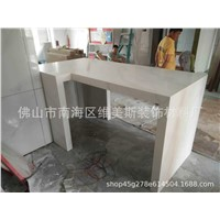 2CM Thick Prefab Double Sink Vanity Top Shanxi Black Granite Vanity Top with Double Ceramic Sink
