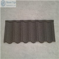 Low Price TIGA Factory Supply Stone Chips Coated Roofing Tiles, Gravel Steel Roofing Tiles