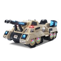 Electronic Tank with Light & Music, Battery Control Tank, Ride On Car