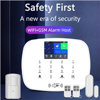 Wireless WiFi GSM3G Home Alarm Security System APP Remote Control Anti Burglar Multi Language Easy Operate