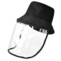 Sun Hat with Isolation Mask, UV Protection Hat with Detachable Face Cover, Breathable Sunscreen Windproof Dustproof