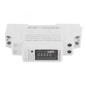 DDM18S Single Phase 1P DIN Rail E220V Electricity Power Energy Meter 5(30)A Digital Display