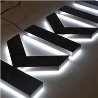 Stainless Steel Acrylic LED Sign Board Letters Shop Signage Halo Lit Signs Letters Lighting LED Letter Sign