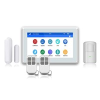 Compatible with Indoor IP Camera Touch Screen Wireless WiFi GSM 3G Home Security Alarm Kit