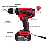 Strong Electric Drill 6000mAh/8000mAh/12000mAh 54N. M Lithium-Ion Cordless Torque Electric Screwdriver13mm Drill
