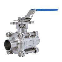 Stainless Steel Sanitary Welded Three Piece Ball Valve