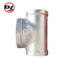 Malleable Iron Pipe Fittings Galvanized Reducing Tee