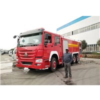 16tons Howo 10 Wheel Fire Engine 13000Liters Water 3000liters Foam Tanker Fire Fighting Truck