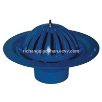 Ductile Iron Full-Flow Roof Outlet with Round Dome or Flat Grate