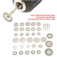 37pcs Diamond Stainless Steel Cutting Disc Saw Blades Tools Kit