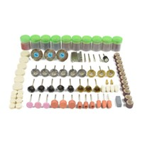 350 Pcs Electric Grinder Accessories Rotary Drill Tool Accessories Bit Polishing Kit In Plastic Box