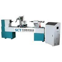 CNC Automatic Wood Turning Copy Lathe